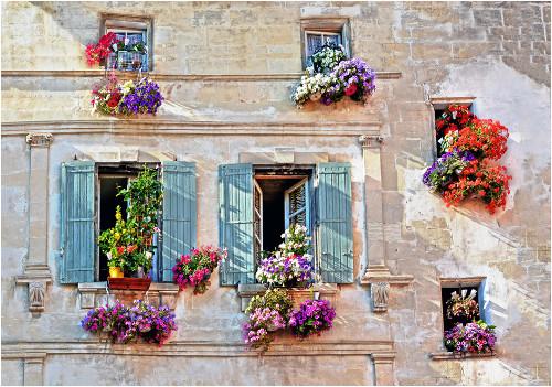 Provensálsky štýl okna